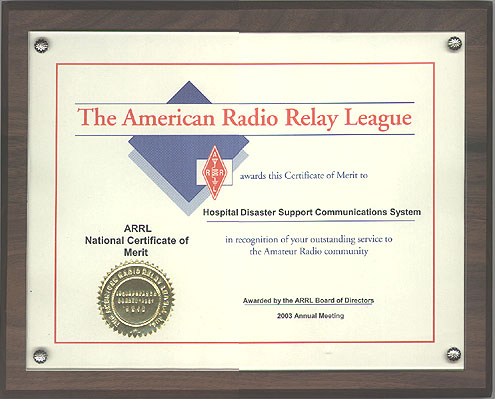 We get letters arrl national certificate of merit yadclub Image collections